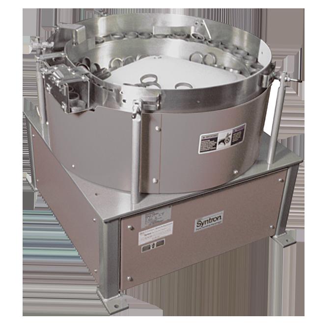 Vibratory feeder bowl for parts handling equipment